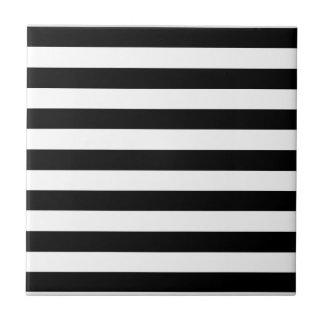 Azulejo De Cerâmica Listras horizontais largas preto e branco na moda