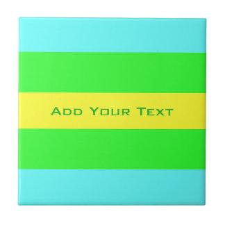 Azulejo De Cerâmica Listras largas amarelas, verdes, azuis por Shirley