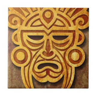 Azulejo De Cerâmica Máscara maia de pedra