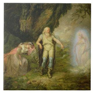 "Azulejo De Cerâmica Miranda, Prospero e Ariel, ""da tempestade"" perto"