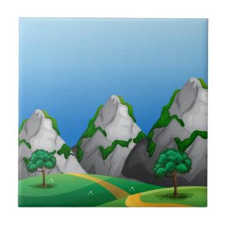 Azulejo De Cerâmica Montanhas