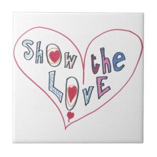 Azulejo De Cerâmica Mostre o amor