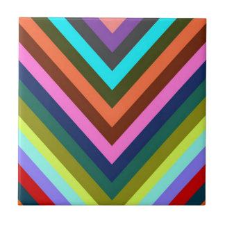 Azulejo De Cerâmica Multi cor de Chevron