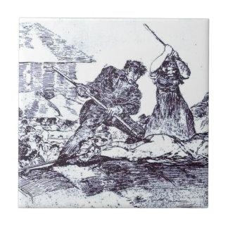 Azulejo De Cerâmica Multidão por Francisco Goya