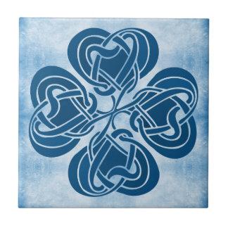 Azulejo De Cerâmica Nó celta azul Funky