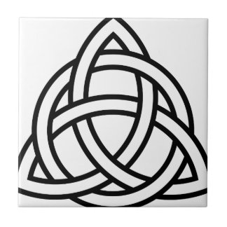 Azulejo De Cerâmica Nó IV de Triquetra do céltico