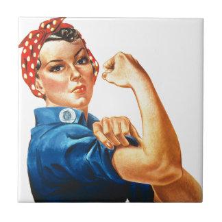 Azulejo De Cerâmica Nós podemos fazê-lo Rosie que as mulheres do
