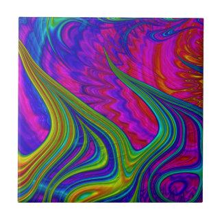 Azulejo De Cerâmica O arco-íris colore a arte abstracta 3D
