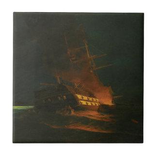 Azulejo De Cerâmica O burning de uma fragata turca por Konstantinos