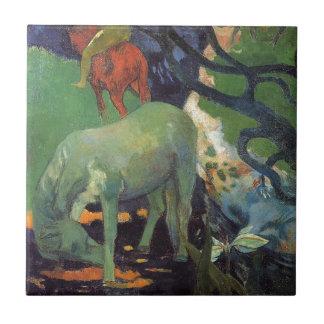 Azulejo De Cerâmica O cavalo branco por Paul Gauguin