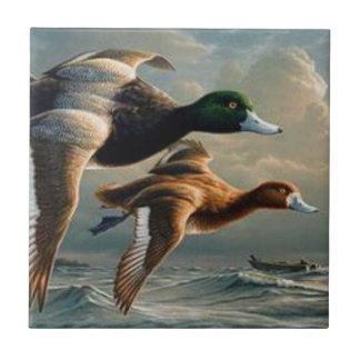 Azulejo De Cerâmica Patos do pato selvagem do vôo