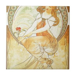 Azulejo De Cerâmica Pintura por Alphonse Mucha