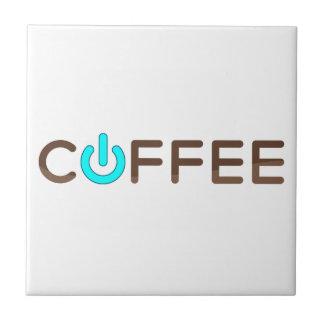 Azulejo De Cerâmica Poder do café (azul)