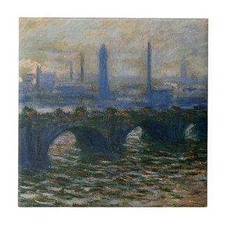 Azulejo De Cerâmica Ponte de Waterloo por Claude Monet