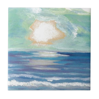 Azulejo De Cerâmica Presentes de Sun do surf do mar do oceano do por
