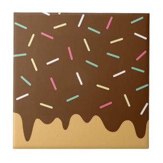 Azulejo De Cerâmica Rosquinha do chocolate