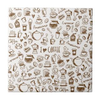 Azulejo De Cerâmica Scribble do café