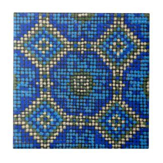 Azulejo De Cerâmica Teste padrão de mosaico azul do vintage