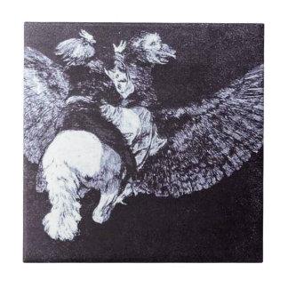 Azulejo De Cerâmica Vôo da absurdidade por Francisco Goya