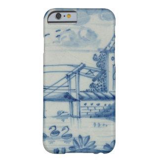 Azulejo de Delft que mostra um drawbridge sobre um Capa iPhone 6 Barely There