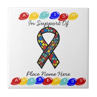 Azulejo do apoio da consciência do autismo