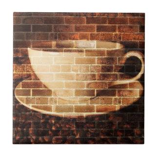 Azulejo do café da parede de tijolo