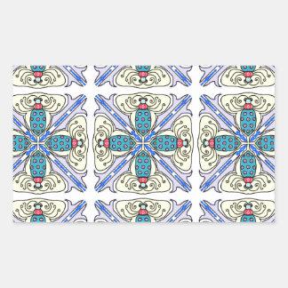 Azulejo do inseto adesivo retangular