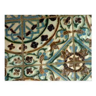 Azulejo do Moorish Cartão Postal