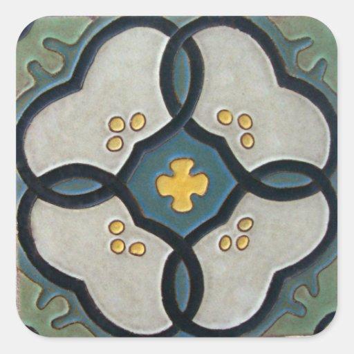 Azulejo do vintage adesivos quadrados