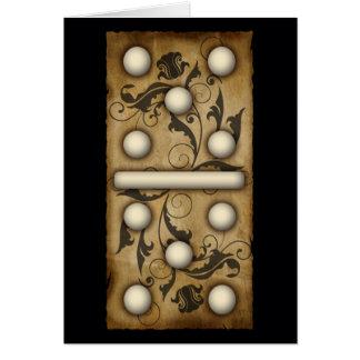 Azulejo dobro-seis do dominó dos dominós do cartão