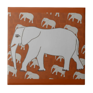 Azulejo elegante do elefante