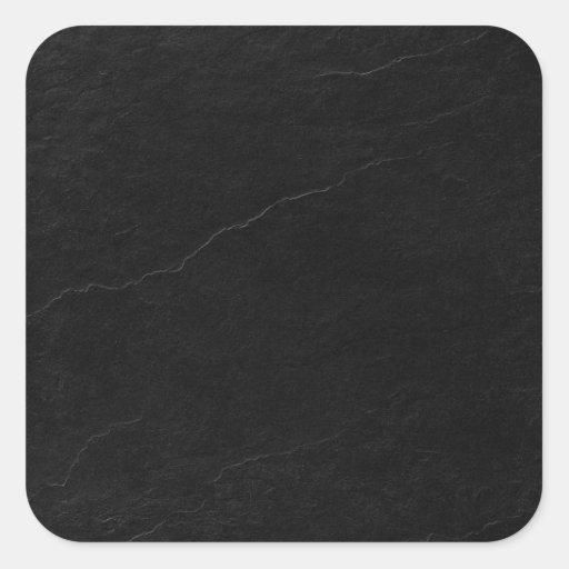 azulejo-etiqueta-preto-ardósia-quadrados adesivo em forma quadrada