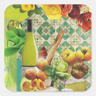 Azulejo mexicano verde adesivo quadrado