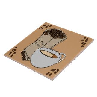 Azulejo/Trivet do design do copo de café dos Azulejo Quadrado Grande