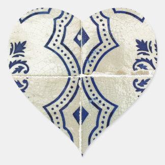 Azulejos Autocolante De Coração