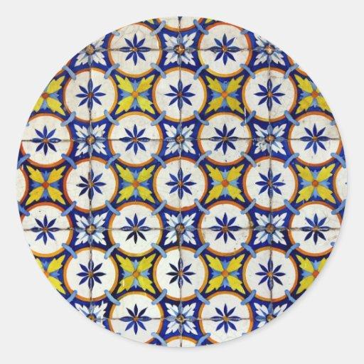Azulejos Autocolantes Em Formato Redondos