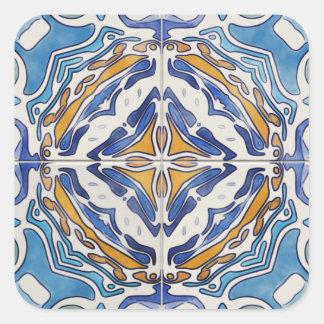 Azulejos azuis adesivo quadrado