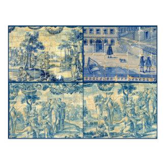 Azulejos azuis cartão postal