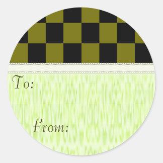 azulejos Checkered do preto da cor da U-picareta Adesivo