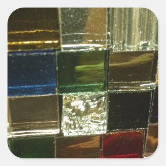 azulejos coloridos do vermelho da cor do mosiac adesivo quadrado