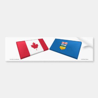 Azulejos da bandeira de Canadá & de Alberta Adesivo Para Carro