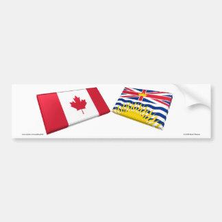 Azulejos da bandeira de Canadá & de Columbia Britâ Adesivo Para Carro
