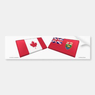 Azulejos da bandeira de Canadá & de Manitoba Adesivo Para Carro