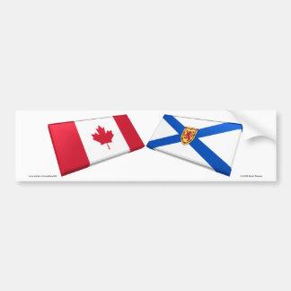 Azulejos da bandeira de Canadá & de Nova Escócia Adesivo Para Carro