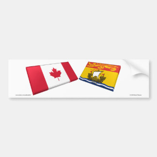 Azulejos da bandeira de Canadá & de Novo Brunswick Adesivo Para Carro