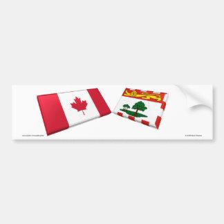 Azulejos da bandeira de Canadá & de Prince Edward  Adesivo Para Carro