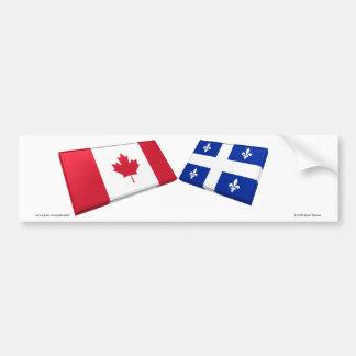 Azulejos da bandeira de Canadá & de Quebeque Adesivo Para Carro