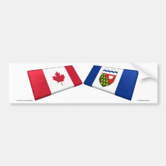Azulejos da bandeira de Canadá & de territórios do Adesivo Para Carro