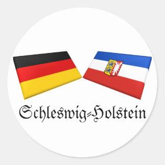 Azulejos da bandeira de Schleswig-Holstein, Adesivo