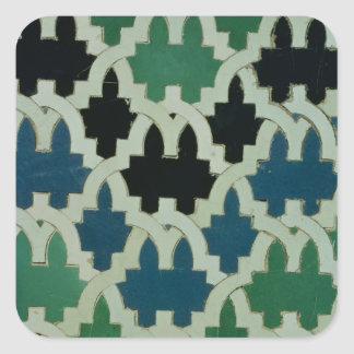 Azulejos de Azulejos do trono das sultões Adesivo Quadrado